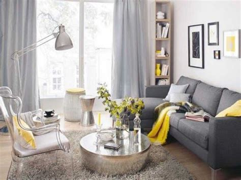 gray and yellow furniture picture of dark grey sofa dove grey curtains yellow textiles and a vase
