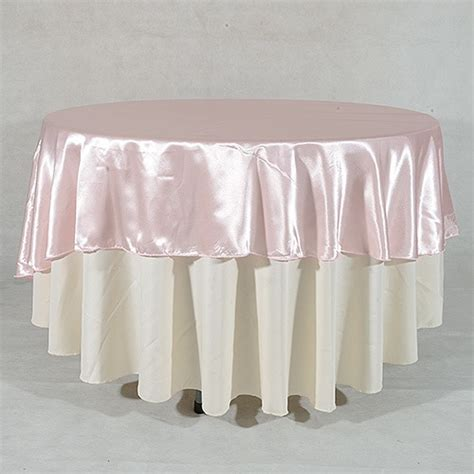light pink table cloth 108 quot satin tablecloths light pink 108 inch