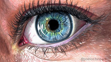 draw  realistic eye  colored pencils youtube