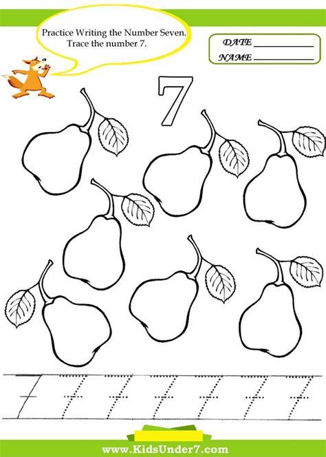 Kids Under 7 Number Tracing 110  Worksheet Part 2  Pk Worksheets  Worksheets For Kids