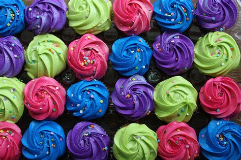 colorful cupcakes on