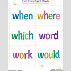 1st Grade Reading Flash Cards Worksheets & Free Printables Educationcom