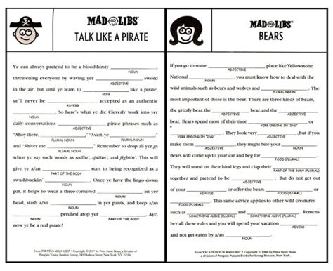 Mad Libs, Road Trip Games And Trip Games On Pinterest
