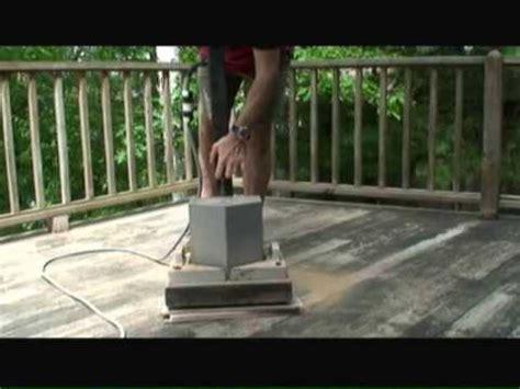 sanding wood decks youtube