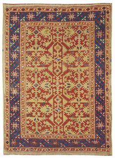 vintage area rug carpets antique oushak rugs ushak lotto rug 3157