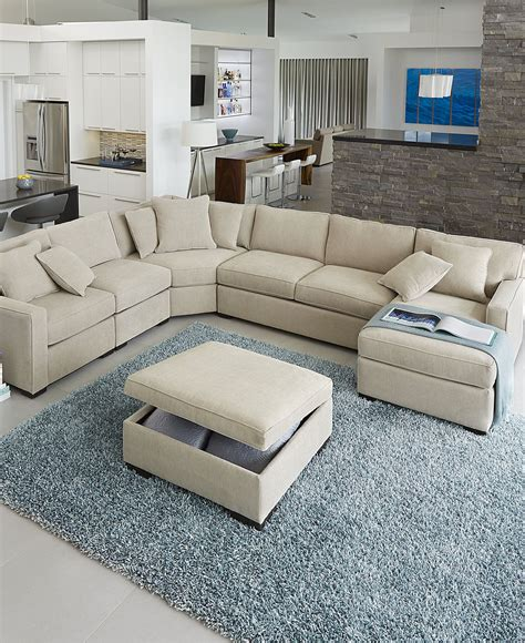 macy s sofas and loveseats radley fabric sectional sofa collection created for macy