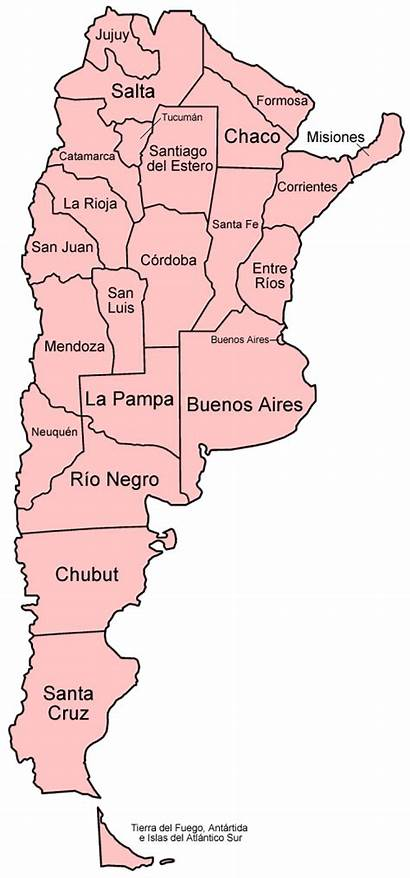 Argentina Provinces Map English Spanish Mapa Maps