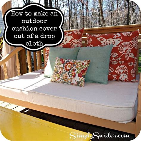 hometalk how to make an outdoor cushion cover out of a