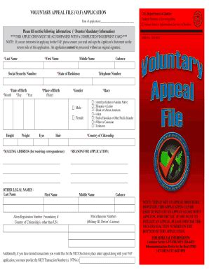 nics appeal phone number vaf application fill printable fillable blank