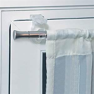 Barre Rideau Fixation Plafond : crochet pour tringle a rideau sur fenetre pvc ~ Premium-room.com Idées de Décoration