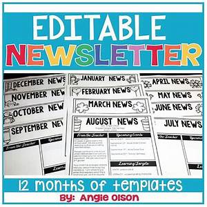 1000 ideas about preschool newsletter templates on With interactive newsletter templates
