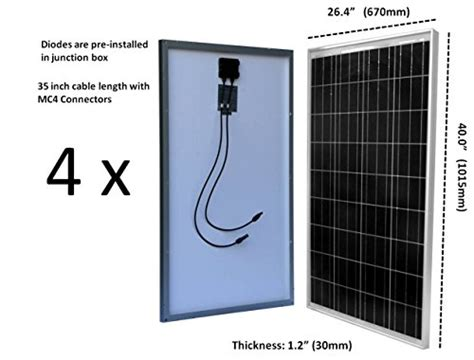 Windynation Watt Pcs Solar Panel Kit