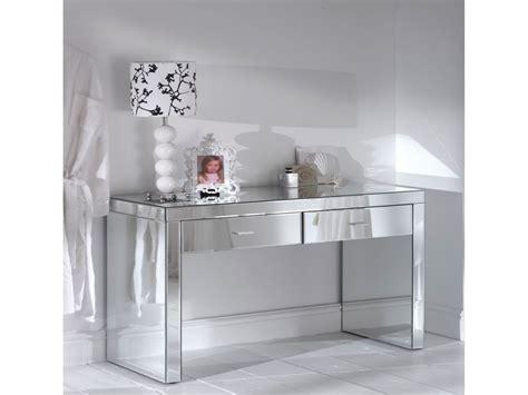 white mirrored furniture romano mirrored console table