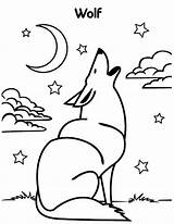 Wolf Coloring Howling Moon Wolves Pages Drawing Colour Luna Drawings Getdrawings Uniquecoloringpages 53kb 776px sketch template