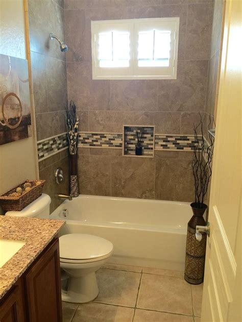 bathroom remodel tiled  bathtub shower surround diy