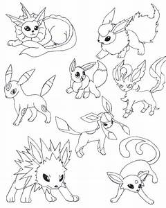 Pokemon Eevee Evolutions Coloring Pages | all art ...