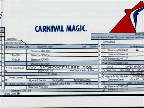 Carnival Deck Plan Photos by Carnival Cruise Magic Deck Plans Instagram Punchaos