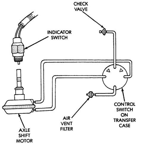 top   transfer case    vacuum switch