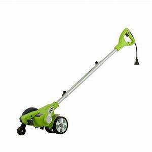 Cordless Electric Grass Trimmer  2 Wheel Adjustable