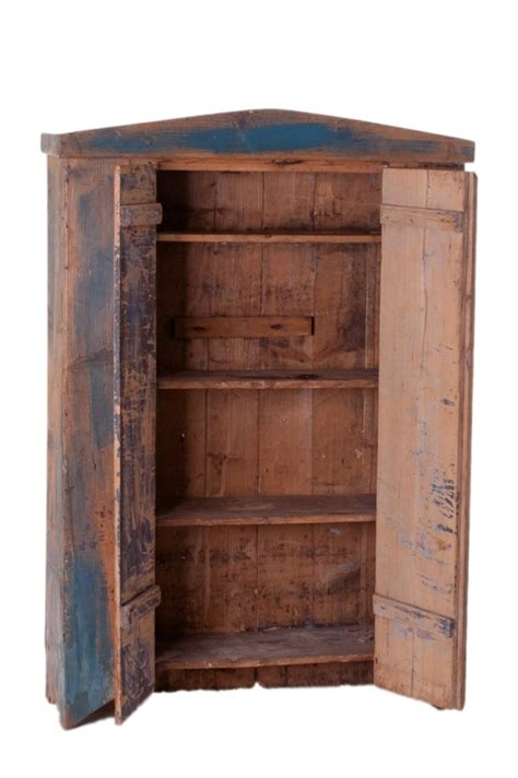 Painted Cupboard by Original Blue Painted Antique Pine Cupboard At 1stdibs