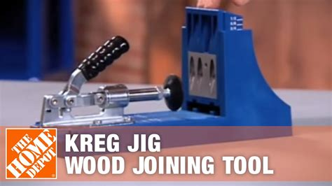 kreg jig wood joining tool  home depot youtube