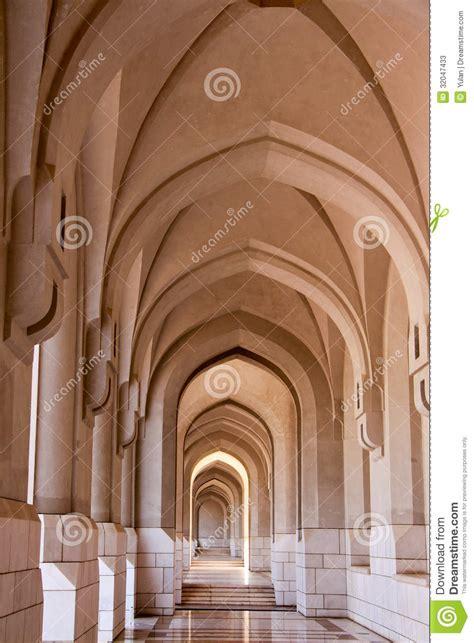 arch corridor   arabic mosque stock image image