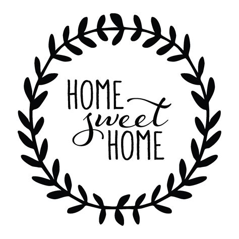 home sweet home leaves wall quotes decal wallquotes com