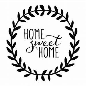 Home Sweet Home Leaves Wall Quotes™ Decal WallQuotes com