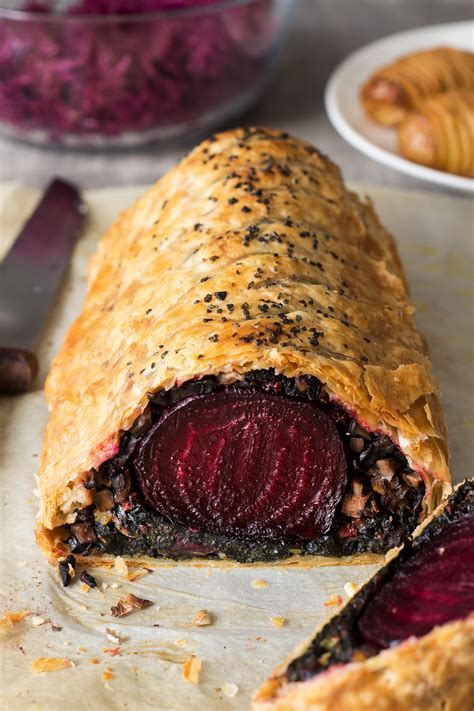 Beet Wellington with balsamic reduction   Lazy Cat Kitchen
