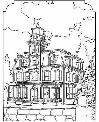 Coloring Pages Victorian Adult Houses Colouring Farm