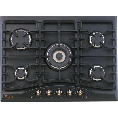piano cottura in ghisa piano cottura 5 fuochi nero antracite whirlpool griglie in