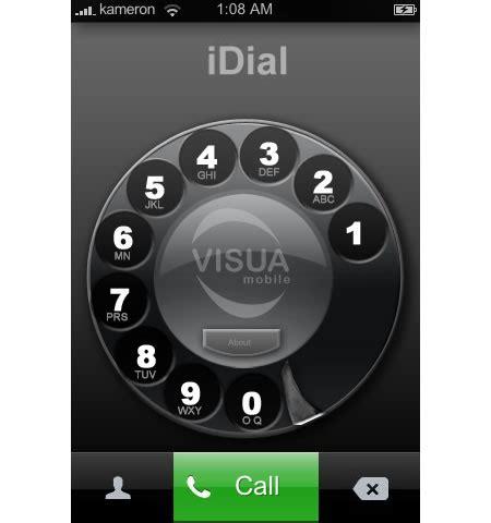 iphone dialer iphone rotary dialer