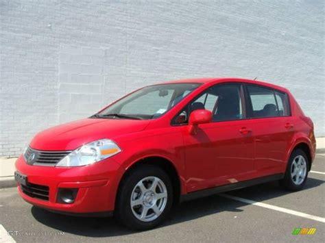 red nissan versa 2009 red alert nissan versa 1 8 s hatchback 15874383