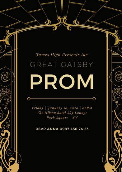 customize  great gatsby invitation templates