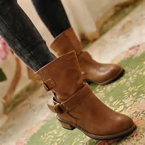 womens boots toe 2016 martin ankle boots slip on toe casual leather shoes ebay