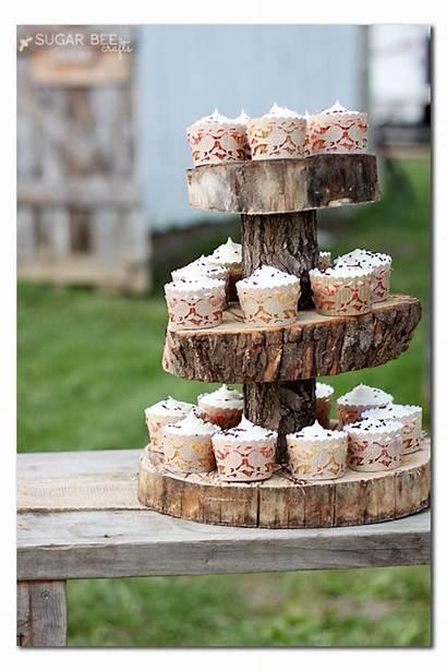 Cupcake Stand Rustic Wood Diy Paper Tissue