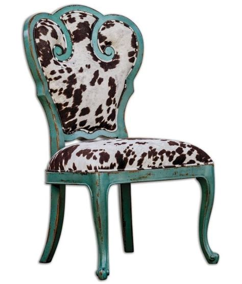 cow print dining chair cowhide home decor places in the home