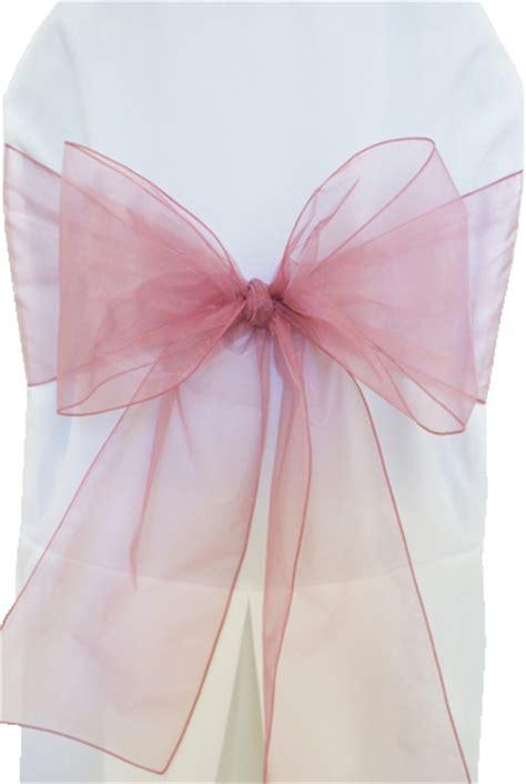 organza chair sash x 5 pack dusty pink emporium