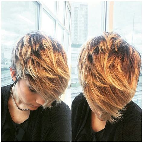 layered hair color ideas 21 gorgeous pixie haircuts popular haircuts