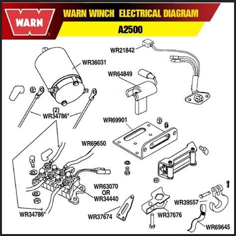 warn 2500 atv winch wiring diagram wiring diagram and