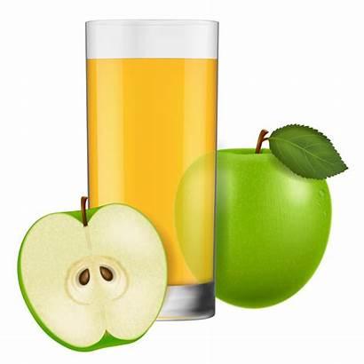 Juice Apple Glass Cup Vectors Vector Eps