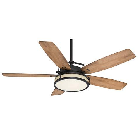 outdoor ceiling fan light kit shop casablanca caneel bay 56 in aged steel indoor outdoor