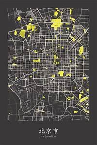 Beijing  China Map Print