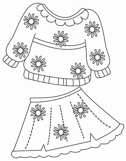 Coloring Clothes Pages Summer Cloth Sheet Printable