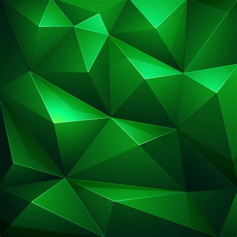 Abstract Black Triangle Background by Abstract Green Triangle Background Vector Illustration