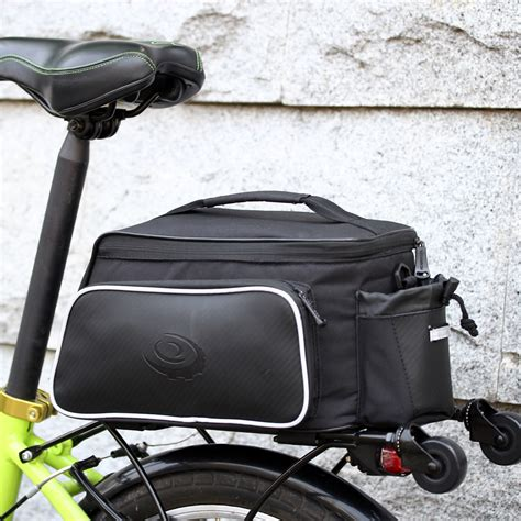 bicycle rear rack bag bicycle bike rear seat pannier bag pouch trunk rack