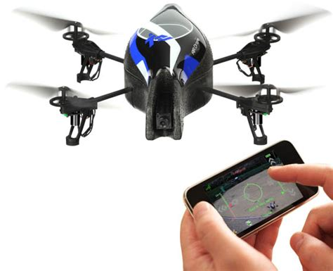 iphone controlled drone parrot ar drone quadricopter cool material