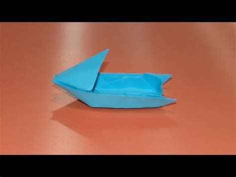 Origami Speed Boat by How To Make An Origami Motorboat Boat 03
