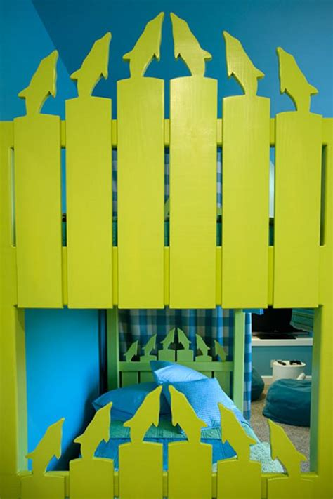 hgtv green home  bright bunk room  cubby hgtv
