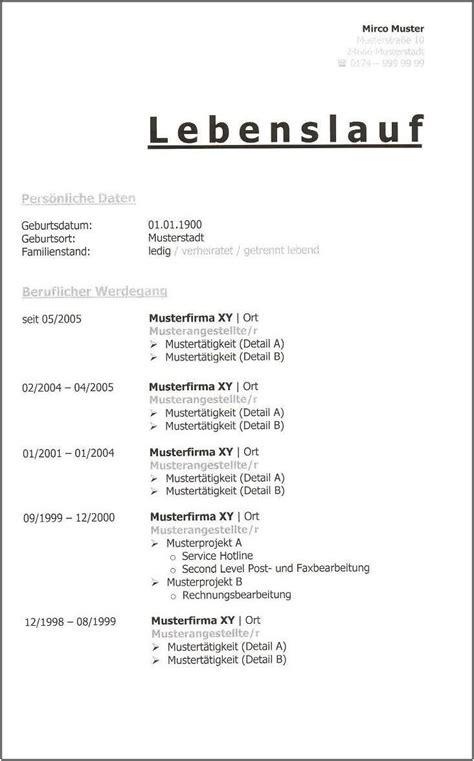 Vorlage Lebenslauf Tabellarisch by L 252 Ckenloser Tabellarischer Lebenslauf Lebenslauf Beispiel